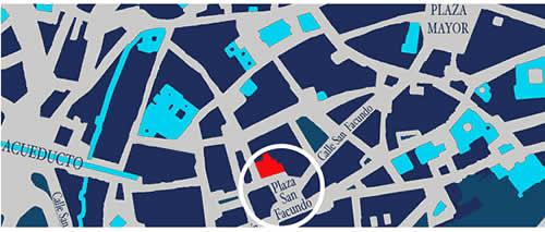 Plano de acceso de Hotel Palacio De San Facundo